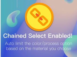 [Upgrade] Chained selection for material settings!