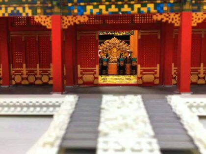 3D Printed SLA Scale Model of The Forbidden City From Minecraft