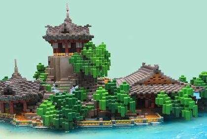 3D Printed SLA Pavilion For Minecraft Players To Display on Chinajoy