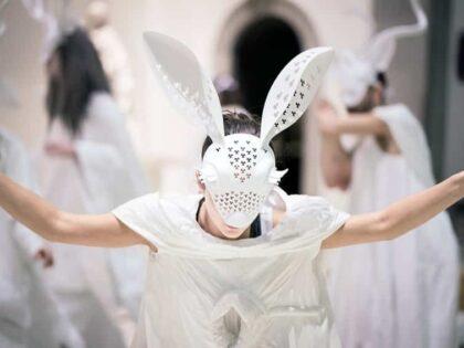 3D Printed Nylon Masks Through SLS Printer for The Show Sky in Their Eyes
