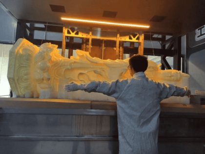 3D Printed Giant Buddha Statue Through One time SLA Printing