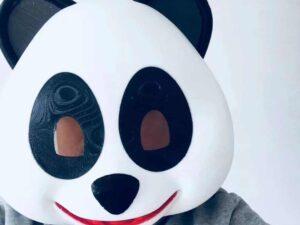 FDM 3D Printed Panda Costume From Apple's Animoji
