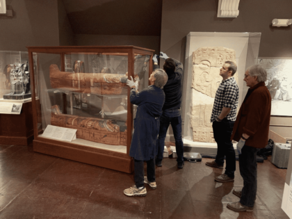 Three Ancient Egyptian Sarcophagi Are Digitalized Using 3D Scanning