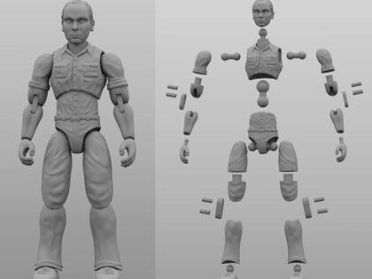 Hauke Scheer 3D Printed Articulated Action Figures that Can Bend and Pose