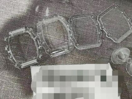 SLA 3D Printed Transparent Resin Case for Richard Mille Watch