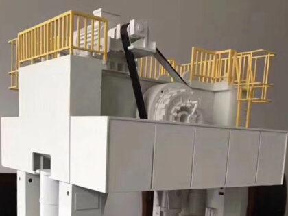 SLA 3D Printed Machine Prototyping Model with Black Tough Resin