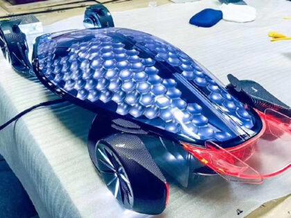 SLA 3D Printed Futuristic Car Model as Graduation Project