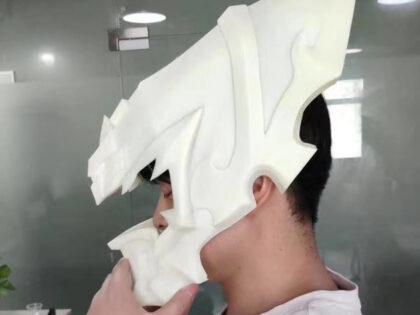 SLA 3D Printed Customized Helmet Garage Kit for a Cosplayer