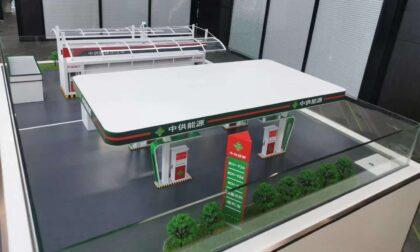 SLA 3D Printed Filling Station Scale Model