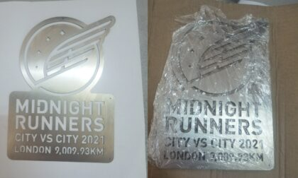 Laser Cut Stainless Steel Midnight Runner Plaque