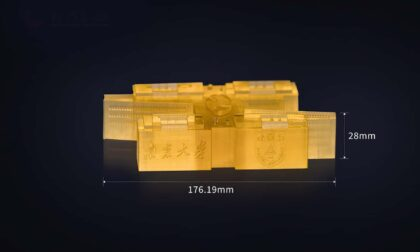 Micro 3D Printed Resin Models of Nanjing and Anqing Universities