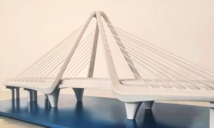 SLA 3D Printed Cable-stayed Suspension Bridge Resin Scaled-down Model