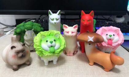 SLA 3D Printed Vegetable Fairy Toy Prototypes